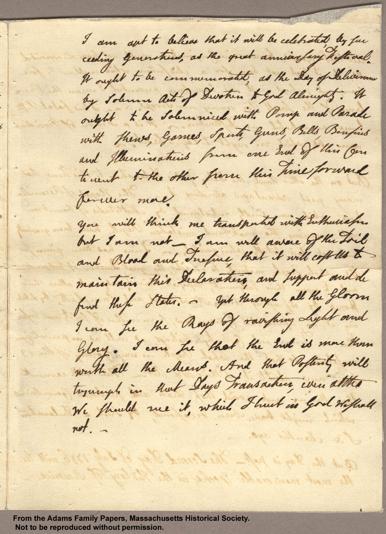 abigail adams letters a letter to abigail from michael a verdicchio 3539